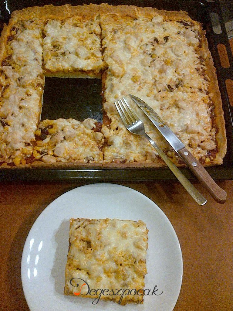 Variáció pizzára: csirkemelles pizza