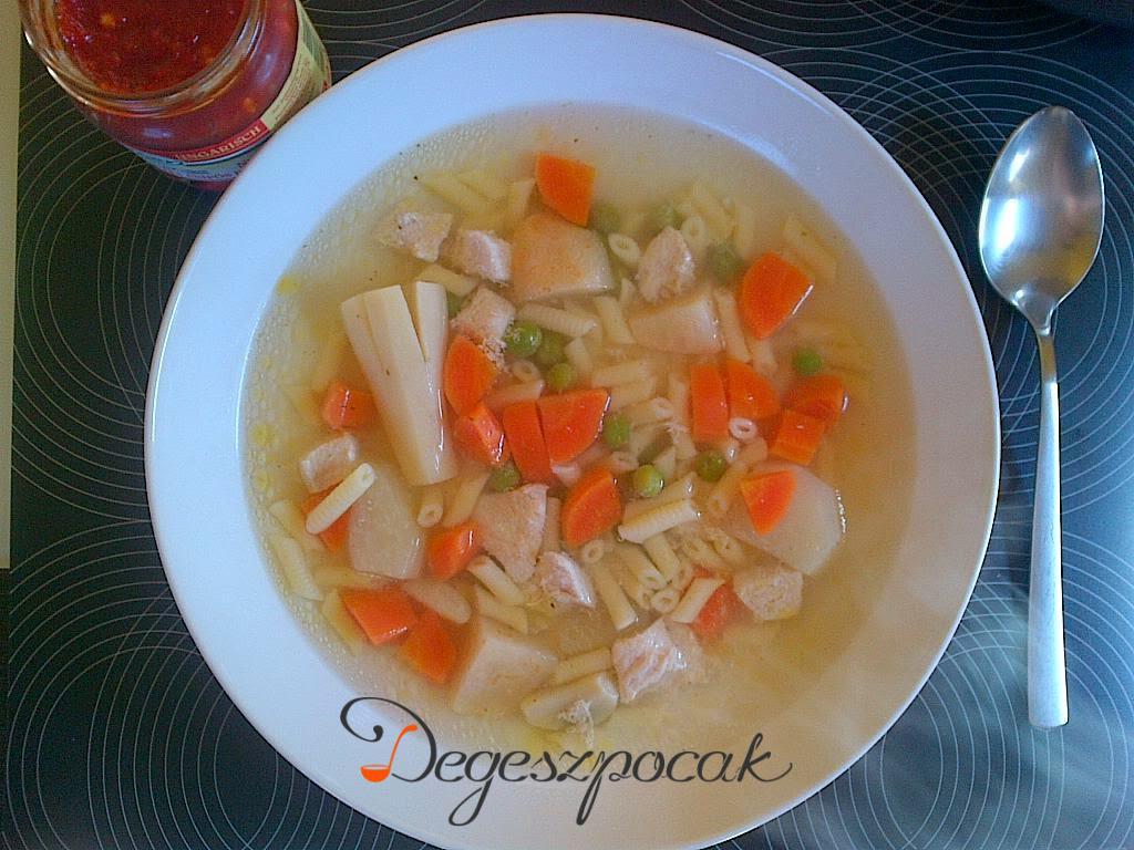 Csirkemellből leves