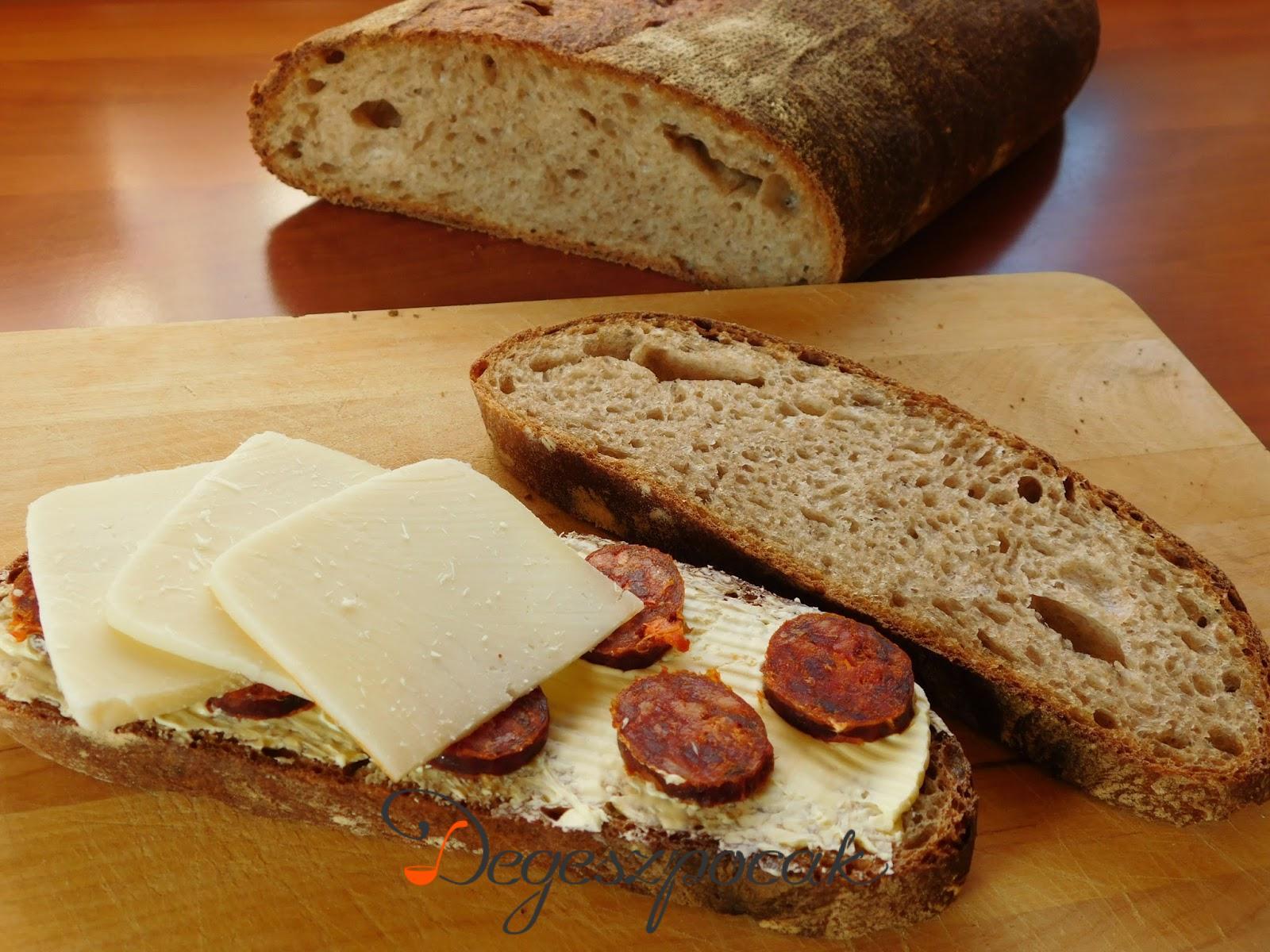 Kovászos soklisztes kenyér