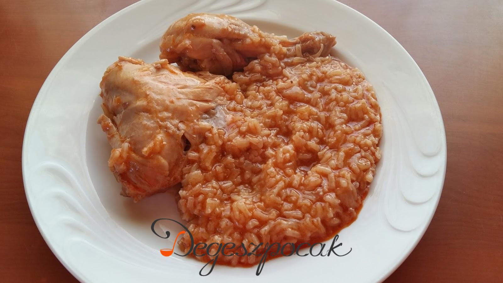 Gyors egytálétel: rizseshús