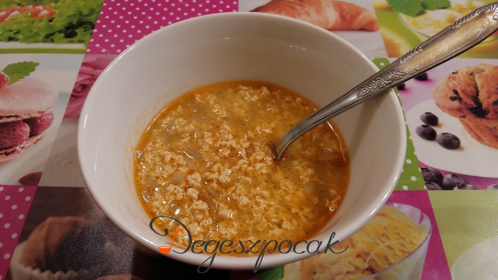 Tojásleves vagy köménymagos leves