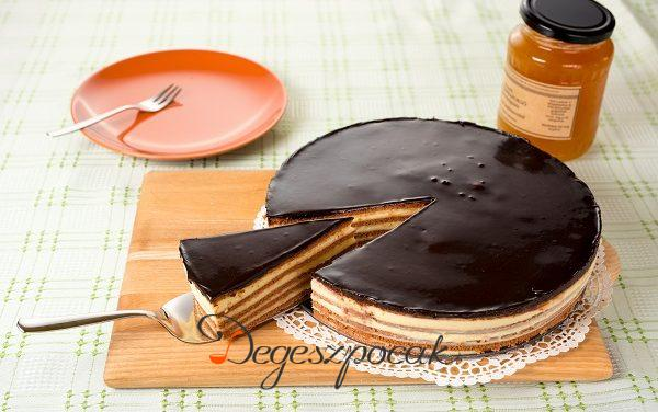 Mézes krémes torta