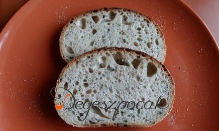 Rozskovászos medvehagymás kenyér